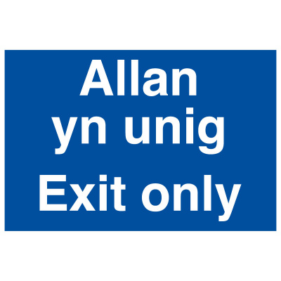 BLZ-COV19-30 Exit Only Welsh
