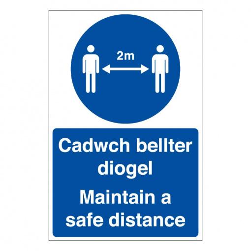 BLZ-COV19-39 Maintain a safe distance Welsh