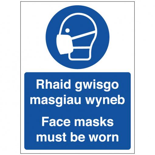 BLZ-COV19-45 Face Masks Must Be Worn Welsh