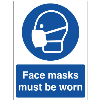 BLZ-COV19-46 Face Masks Must Be Worn