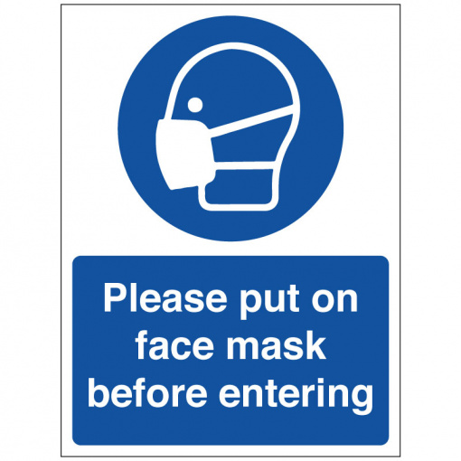 BLZ-COV19-47 Please put on face mask before entering