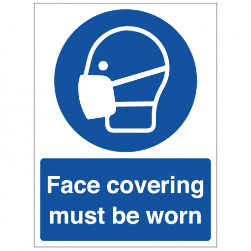 BLZ-COV19-50 Face covering must be worn